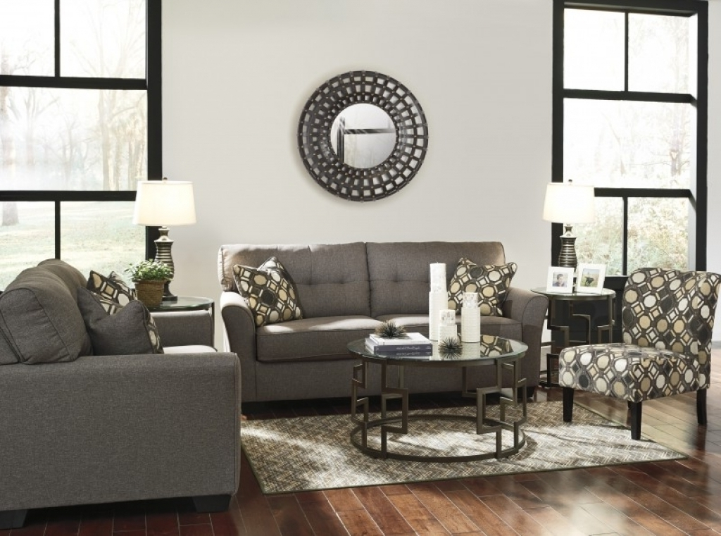 2 Pc Tibbee Slate Sofa Loveseat Set 99101 Ashley Sofa And Accent Throughout Recent Sofa And Accent Chair Sets (View 1 of 10)