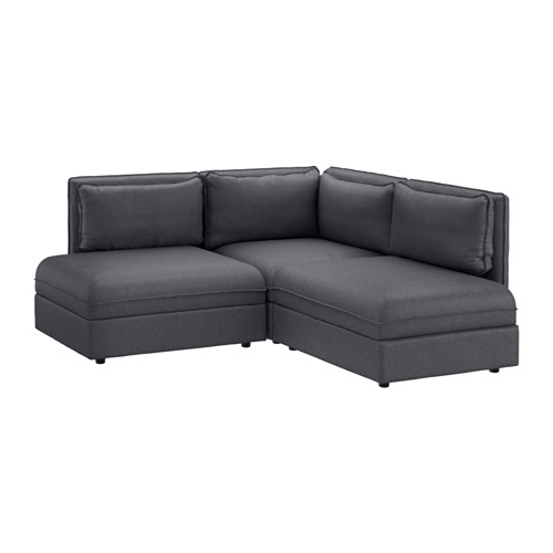 2 Seat Sectional Sofas In Trendy Vallentuna Sectional, 2 Seat – Hillared Dark Gray – Ikea (View 1 of 10)