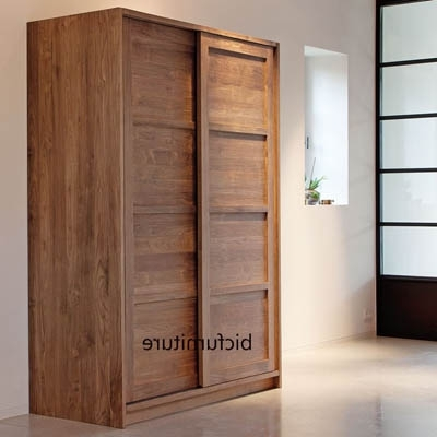 2 Sliding Door Teakwood Wardrobe (View 2 of 15)