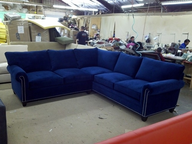 2017 Another Blue Couch – I Don't Love The White Ish Trimming Or Metal Pertaining To Blue Sectional Sofas (View 1 of 10)