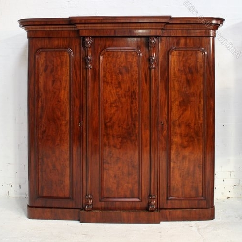2017 Antique Breakfront Wardrobes With Regard To Victorian Mahogany Three Door Breakfront Wardrobe – Antiques Atlas (View 2 of 15)