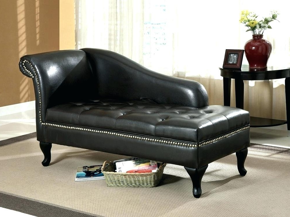 2017 Black Leather Chaises In Storage Chaise Lounge Furniture Leather Sofa Chaise Lounge Sofa (View 1 of 15)