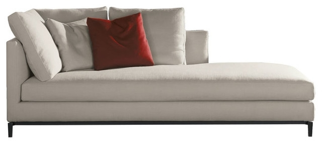 2017 Brilliant Modern Chaise Lounge Minotti Andersen Slim Chaise Lounge Intended For Modern Chaise Lounges (View 1 of 15)