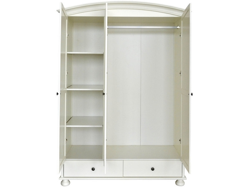2017 Cheap Shabby Chic Wardrobes Pertaining To Door Drawer Wardrobe Arched Top White Painted Shabby Chic (View 1 of 15)