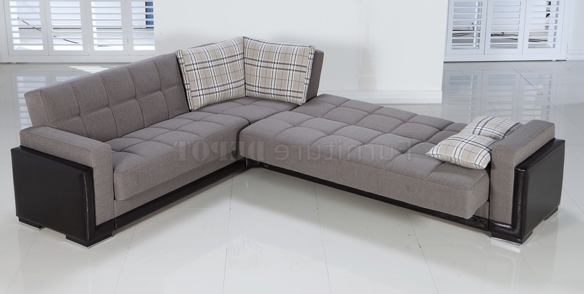 2017 Convertible Sectional Sofas Pertaining To Sectional Sofa Design: Adorable Convertible Sectional Sofa Bed (View 6 of 10)