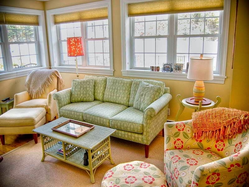 2017 Country Cottage Style Living Room With Floral Sofa And Club Chairs Within Country Cottage Sofas And Chairs (View 1 of 10)