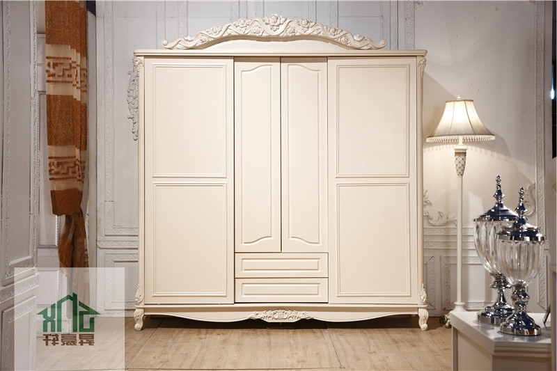 2017 French Style Antique Bedroom Furniture Ha 913# Wooden Wardrobe Regarding Antique Style Wardrobes (View 15 of 15)