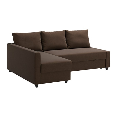 2017 Friheten Corner Sofa Bed With Storage – Skiftebo Brown – Ikea For Ikea Corner Sofas With Storage (View 1 of 10)