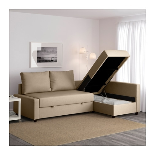2017 Friheten Sleeper Sectional,3 Seat W/storage – Skiftebo Dark Gray Intended For Chaise Sofa Beds (View 11 of 15)