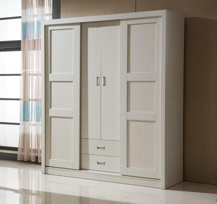 2017 Ikea Solid Wood Wardrobe Closet Dark Wardrobes Sliding Doors Uk Inside White Wooden Wardrobes (View 1 of 15)