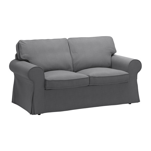 2017 Ikea Two Seater Sofas In Ektorp Two Seat Sofa Nordvalla Dark Grey – Ikea (View 1 of 10)