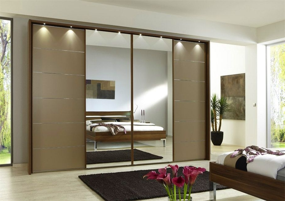 2017 Mirror Design Ideas: Beautiful Looking Sliding Door Mirrored With Wardrobes With Mirror (Gallery 14 of 15)