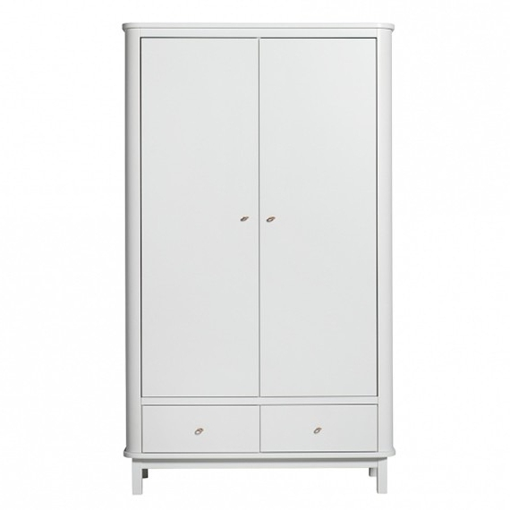 2017 Oliver Furniture Wood 2 Door Wardrobe – White (View 1 of 15)