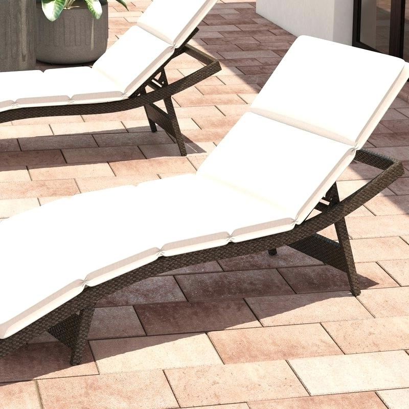 2017 Outdoor Chaises Regarding Lounge Pads Outdoor Chaises Outdoor Chaise Lounge Cushions Swan (View 1 of 15)