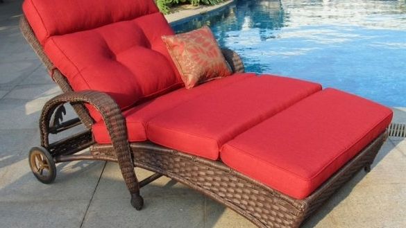 2017 Outdoor Double Chaise Lounges Throughout Patio Double Chaise Lounge New Impressive Oversized Outdoor (View 1 of 15)