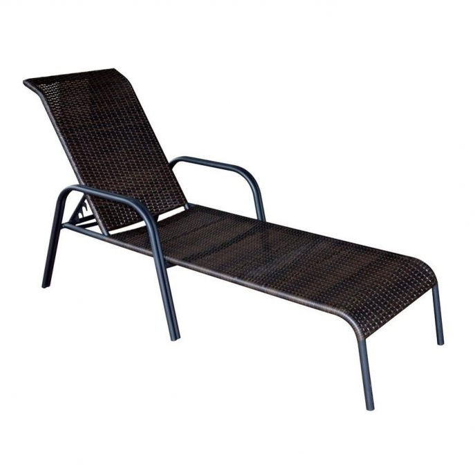 2017 Outdoor Ikea Chaise Lounge Chairs Regarding Outdoor : Target Lounge Chairs Vinyl Strap Chaise Lounge Outdoor (View 2 of 15)