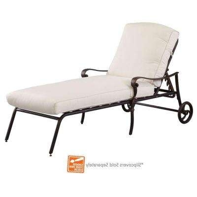 2017 Outdoor Metal Chaise Lounge Chairs Intended For Outdoor Chaise Lounges – Patio Chairs – The Home Depot (View 7 of 15)