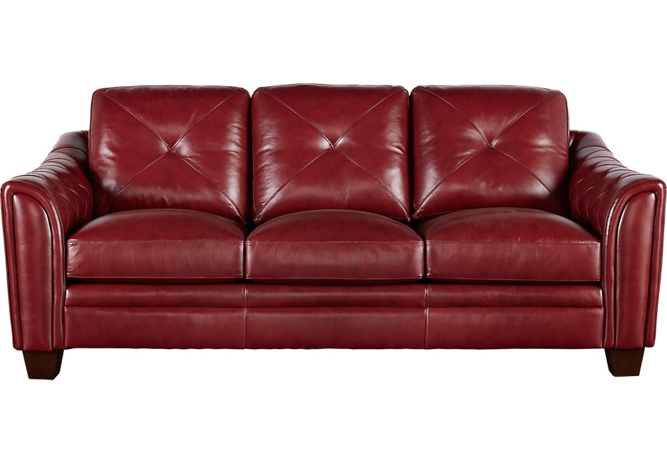 2017 Red Leather Couches Throughout Inspirational Red Leather Couches 19 About Remodel Living Room (View 3 of 10)