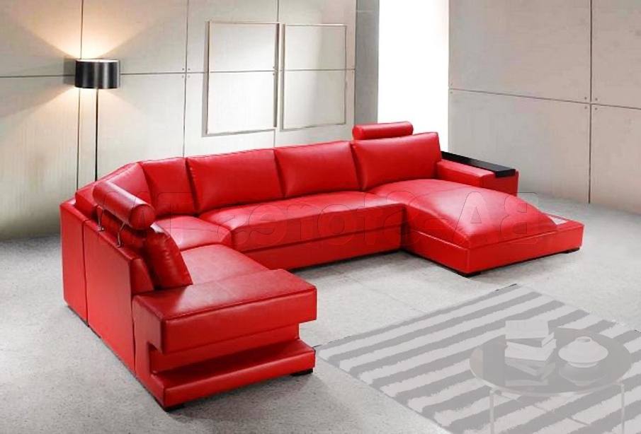 2017 Red Reclining Sectional Sofas 13 Extraoradinary Red Sectional Red Pertaining To Red Leather Sectional Couches (View 1 of 10)