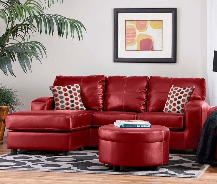2017 Red Sofa Chairs In Leather Couches And Blood Red Sofas (View 1 of 10)