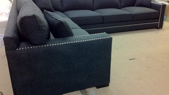 2017 Sectional Sofas With Nailheads With Sectional Sofa Design Nailhead Fabric Leather Popular Nail Head (View 1 of 10)