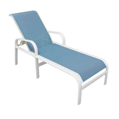 2017 Sling Chaise Lounge Chairs For Outdoor Within Outdoor Chaise Lounges – Patio Chairs – The Home Depot (View 15 of 15)