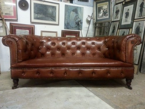 2017 Victorian Leather Sofas In Antique Victorian Leather Chesterfield 3 Seat Sofa – Antiques Atlas (View 5 of 10)