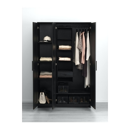 2017 Wardrobes ~ Black 3 Door Wardrobe With Drawers Ikea Black Wardrobe For Black Single Door Wardrobes (View 14 of 15)