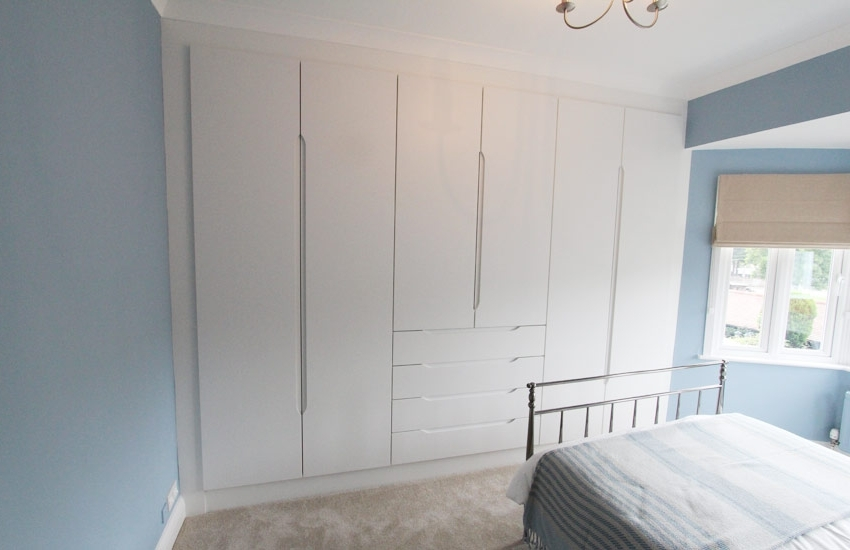 2017 White Bedroom Wardrobes Inside Bespoke Fitted White Wardrobes, Contemporary Bedroom Furniture (View 2 of 15)