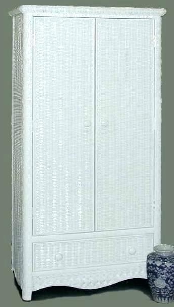2017 White Wicker Wardrobes Throughout Wicker Jewelry Armoire Wall Mount Jewelry Wall Mounted Jewelry (View 2 of 15)