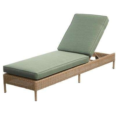 2017 Wicker Chaise Lounges Intended For Outdoor Chaise Lounges – Patio Chairs – The Home Depot (View 2 of 15)