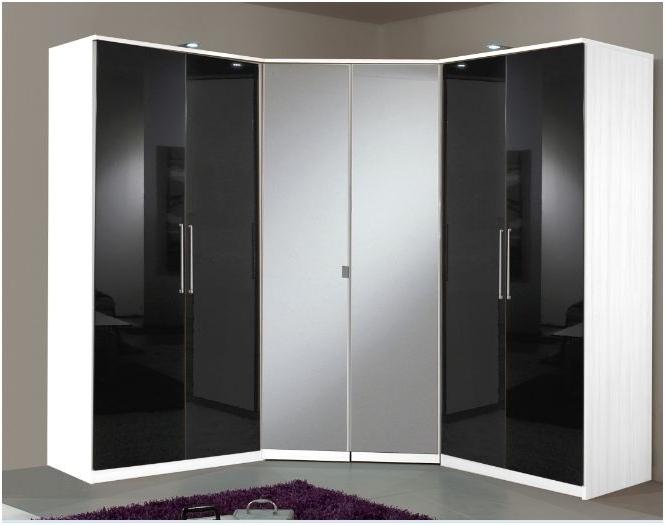 2018 2 Door Corner German Wardrobe With Mirror Doors In Corner Mirrored Wardrobes (View 1 of 15)