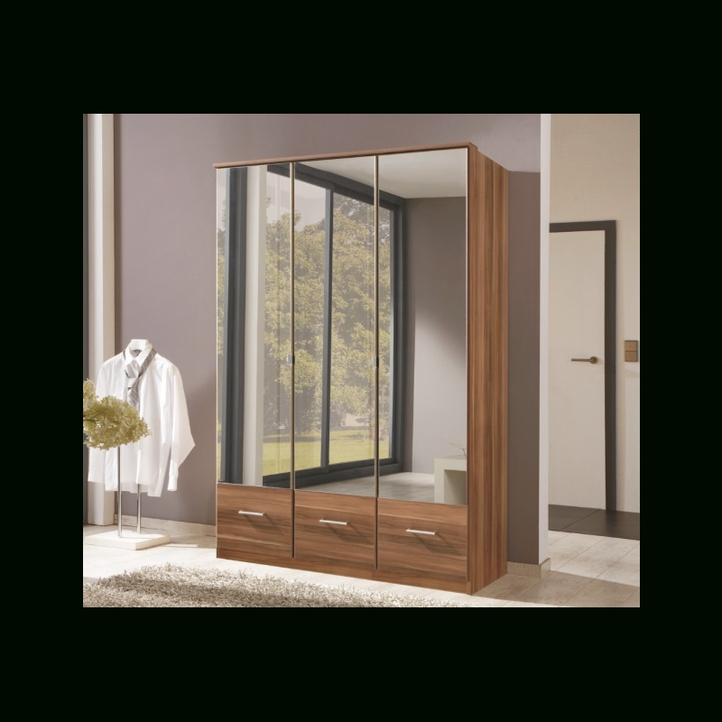 2018 3 Door Mirrored Wardrobes Intended For Mirror Design Ideas: Large Gallery 3 Door Mirrored Wardrobe (View 1 of 15)
