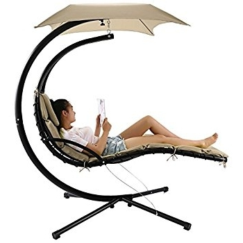 2018 Amazon : Hanging Chaise Lounger Chair Arc Stand Air Porch With Hanging Chaise Lounge Chairs (View 1 of 15)