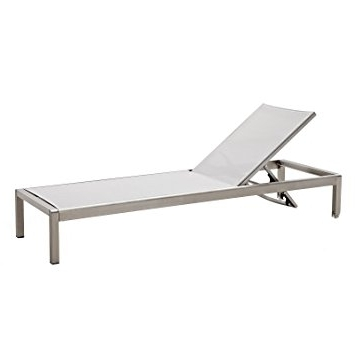 2018 Amazon: Meelano M200 Outdoor Chaise Lounge, Grey: Garden & Outdoor Pertaining To Aluminum Chaise Lounges (View 3 of 15)