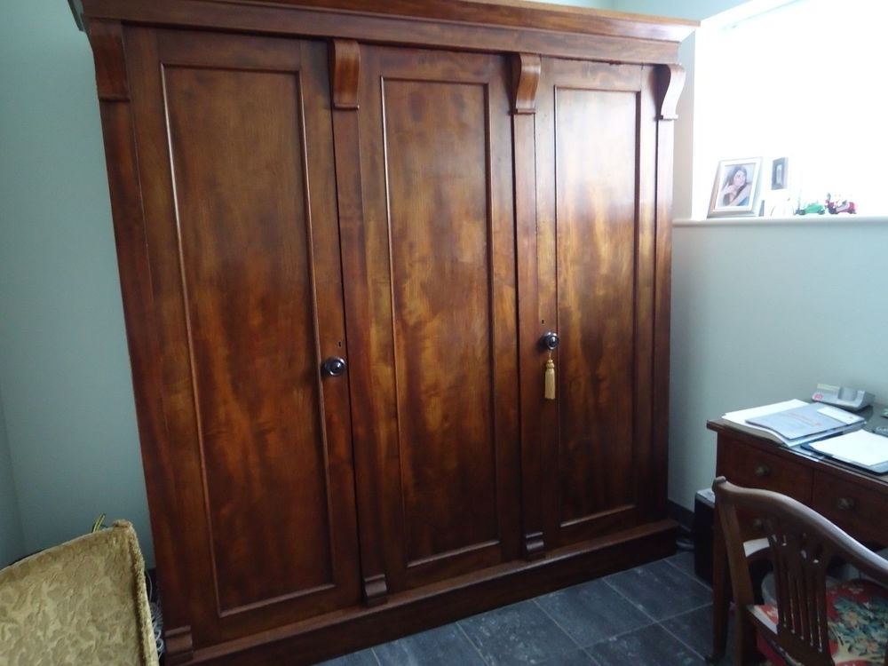 2018 Antique Triple Wardrobes With Regard To Antique Victorian Mahogany Triple Wardrobe In Antiques, Antique (View 1 of 15)