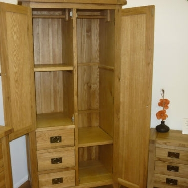 2018 Besp Oak Vancouver Oak Petite Combi Wardrobe Nb029 Designer With Regard To Combi Wardrobes (View 3 of 15)