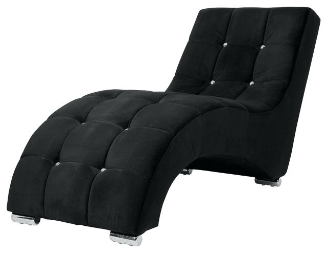 2018 Black Velvet Chaise Lounge Silver Crushed Velvet Chaise Black With Black Chaise Lounges (Gallery 4 of 15)