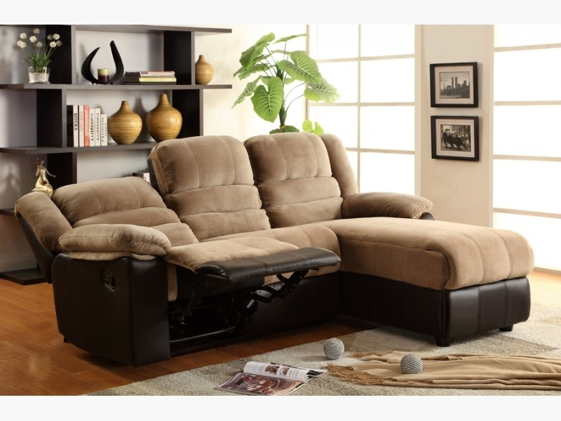 2018 Chaise Lounge Sectionals In Two Tone Sectional Sofa With One Reclining Seat And Chaise Lounge (View 1 of 15)