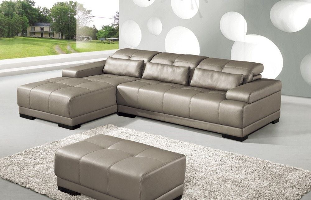 2018 Corner Sofa Chairs Regarding Cow Genuine Leather Sofa Set Living Room Sofa Furniture Couch (View 1 of 10)