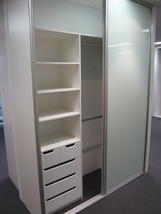 2018 Floor To Ceiling, 2 Door Optipanel Sliding Door Wardrobe, Draw With Double Wardrobes With Drawers And Shelves (View 1 of 15)