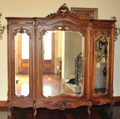 2018 French Armoire Wardrobe A Magnificent Example Of Luis Xv Rococo  Pertaining To White French Armoire