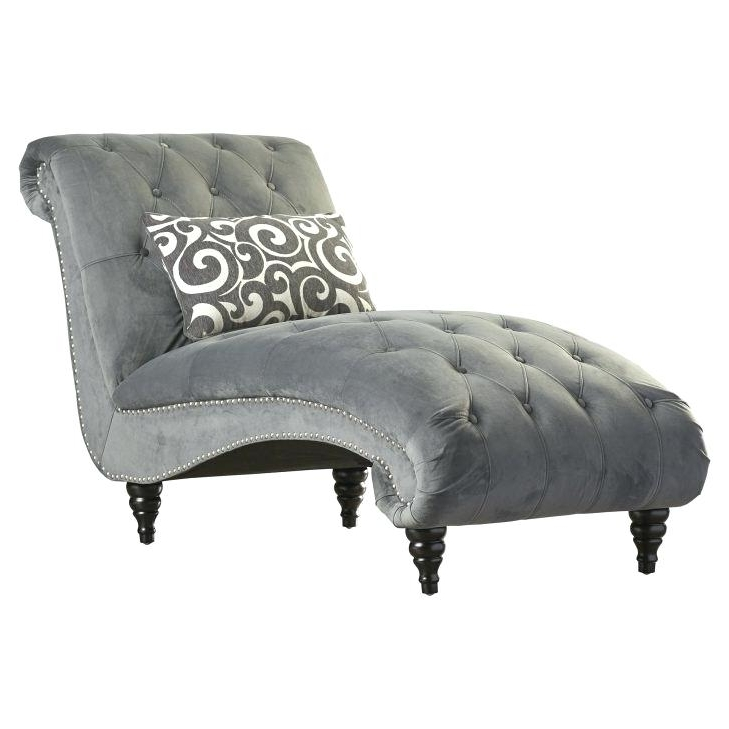 2018 Gray Chaise Lounge Chairs Throughout White Chaise Lounge Chair Medium Size Of Antique Bedroom Gray (View 1 of 15)