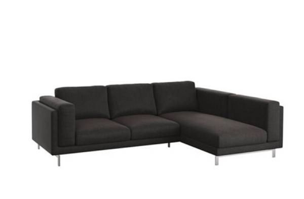 "2018 Ikea ""nockeby"" Corner Couch / Sofa With Chaise, + Kivik Footstool Regarding Ikea Chaise Couches (View 14 of 15)"