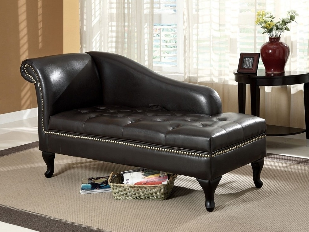 2018 Leather Chaises Throughout Perfect Black Chaise Lounge Style — Awesome Homes (View 1 of 15)