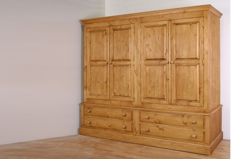2018 Natural Pine Wardrobes Pertaining To Pine Wardrobes For Adding Natural Texture To Homes – Furniture And (View 7 of 15)