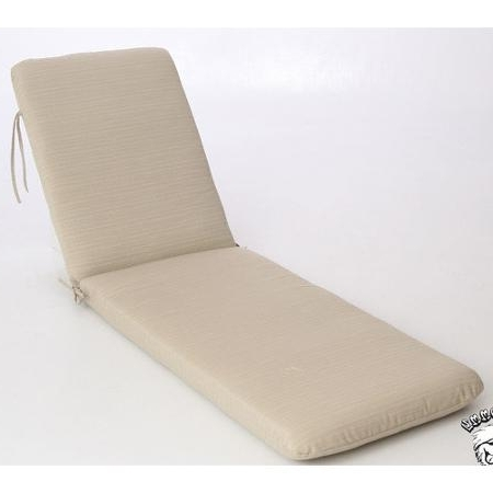 2018 Outdoor Chaise Lounge Cushions (View 11 of 15)