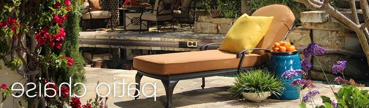 2018 Patio Chaises – Outdoor Chaises (View 1 of 15)