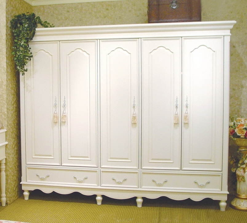 2018 Reclaimed Antique White Armoire (View 2 of 15)