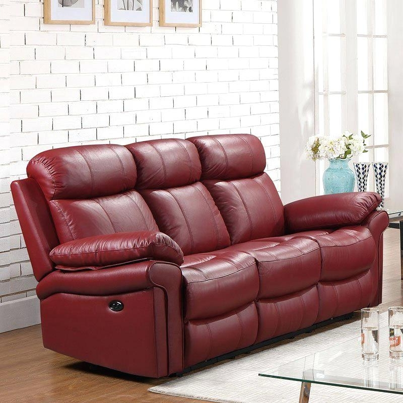 2018 Red Leather Reclining Sofas And Loveseats In Extraordinary Red Reclining Sofa Red River Reclining Sofa Loveseat (View 17 of 17)